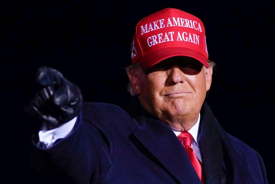 트럼프 대통령은 흑인 남성 제이콥 블레이크가 경찰의 총에 맞아 숨진 사건이 벌어졌던 커노샤에서 다음 유세 일정을 소화했다. 커노샤, 위스콘신주. 2020년