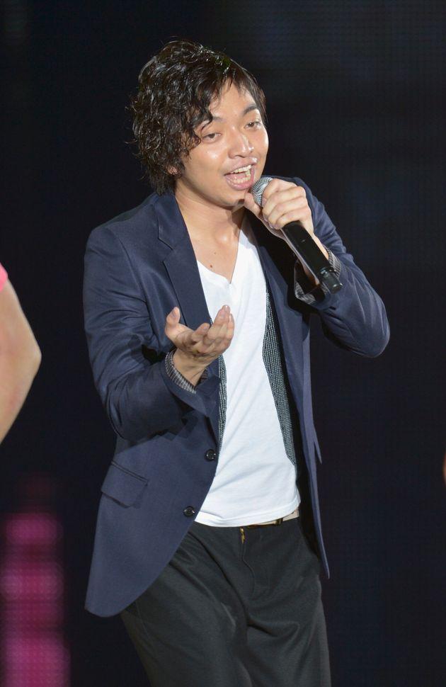 ファッションイベントに出演する三浦大知さん(2012年)