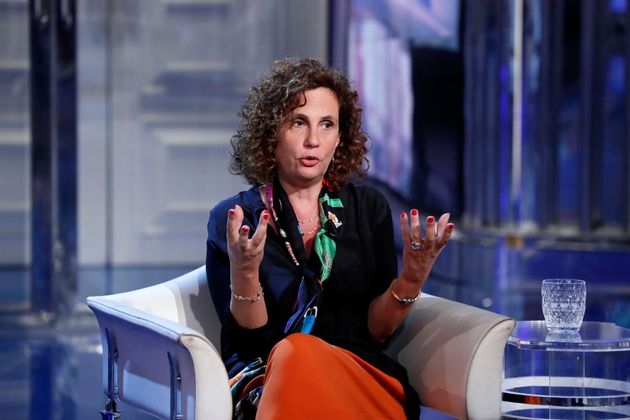 Italian virologist Ilaria Capua guest of the television transmission Porta a Porta. Rome (Italy), June...