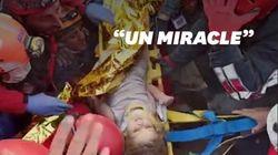 Une fillette sauvée des décombres quatre jours après le séisme en