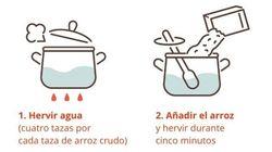 La receta para cocinar arroz eliminando el arsénico tóxico y. conservando sus