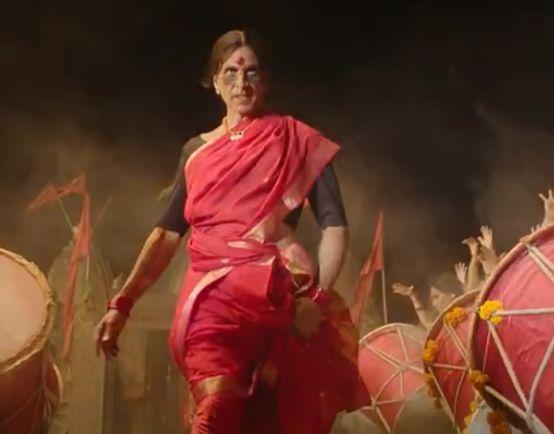 Akshay Kumar in a still from 'Laxmii'.