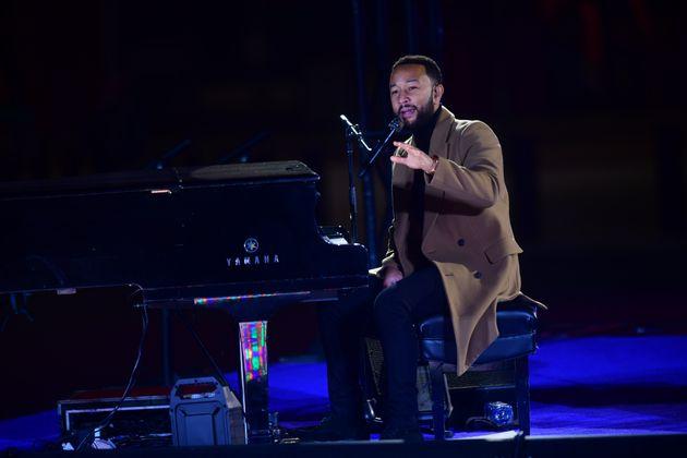 John Legend lors de l'évènement de soutien pour Joe Biden le 2 novembre 2020 à Philadelphie....