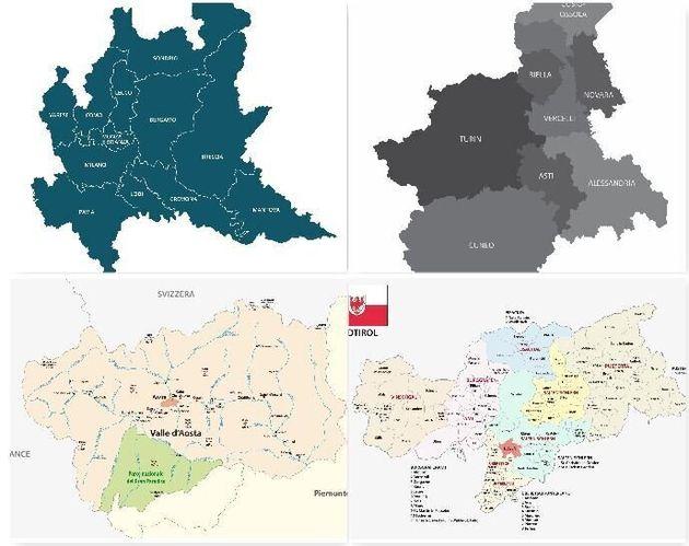 Piemonte E Lombardia Cartina.Probabili Rosse Lombardia Piemonte Val D Aosta Alto Adige E Calabria L Huffpost