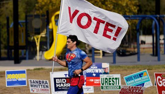 2020 미국대선 투표소에 모인 각양각색 유권자들