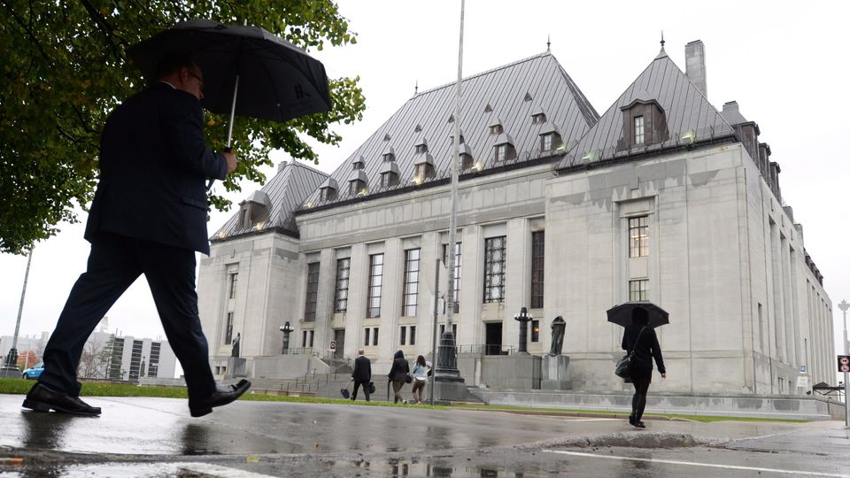 The Supreme Court of Canada building is pictured in Ottawa on Oct. 15,