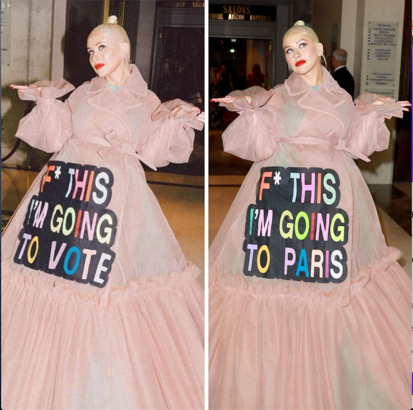 Christina Aguilera's Iconic 'F* This I'm Going To Vote' Dress Is Perfect For The Polls