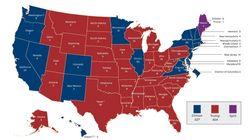 【アメリカ大統領選挙】2016年の各地域の結果は、こうだった。