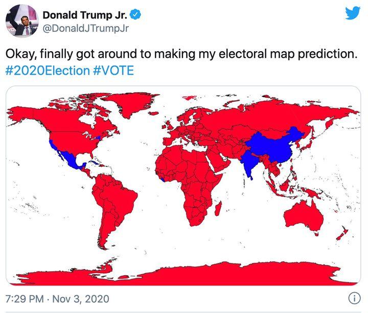 A screenshot of Donald Trump Jr's tweet.