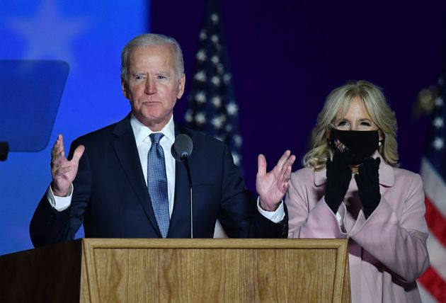 4일 조 바이든 민주당 대통령 후보가 입장을 밝히는