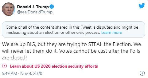 το tweet αποσύρθηκε λίγη ώρα μετά την ανάρτησή