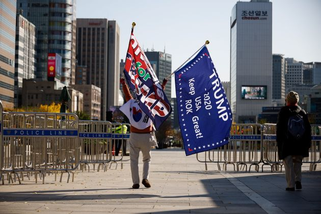 서울 광화문에서 트럼프 재선 지지 집회가 열렸다