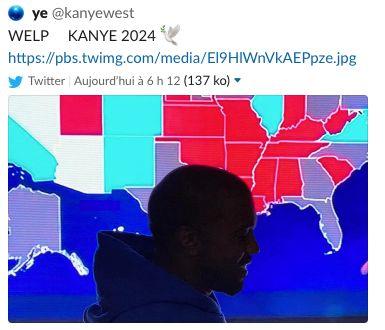 Kanye West n'a pas gagné mais se projette déjà en