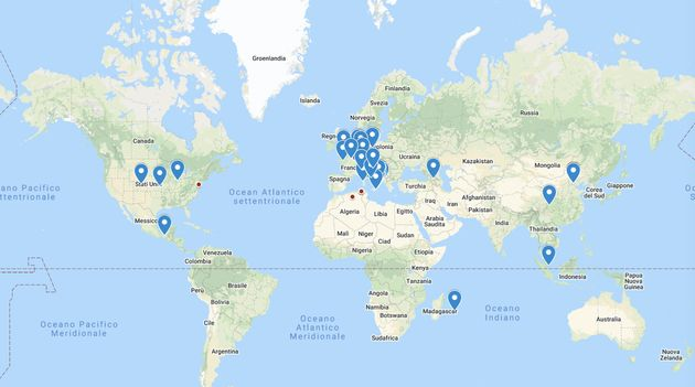 Mappa delle sedi partecipanti