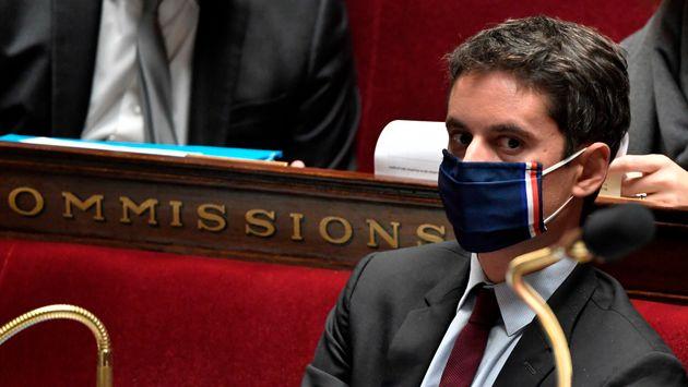 Gabriel Attal lors des Questions au gouvernement le 3 novembre à l'Assemblée