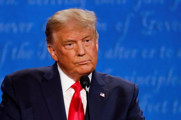 El presidente de Estados Unidos, Donald Trump, durante el debate