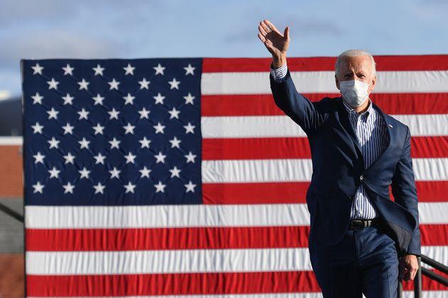 Biden, en un acto en Dallas, Pensilvania, el 24 de