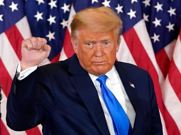 Donald Trump este miércoles 4 de noviembre, tras conocerse los primeros resultados de la
