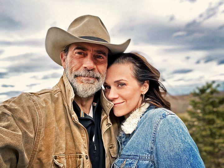 Actor Jeffrey Dean Morgan and his wife, actor Hilarie Burton.
