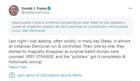 Tuit de Donald