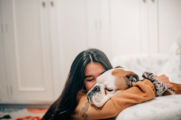 Spending some quality time with your pet can help boost your mood.