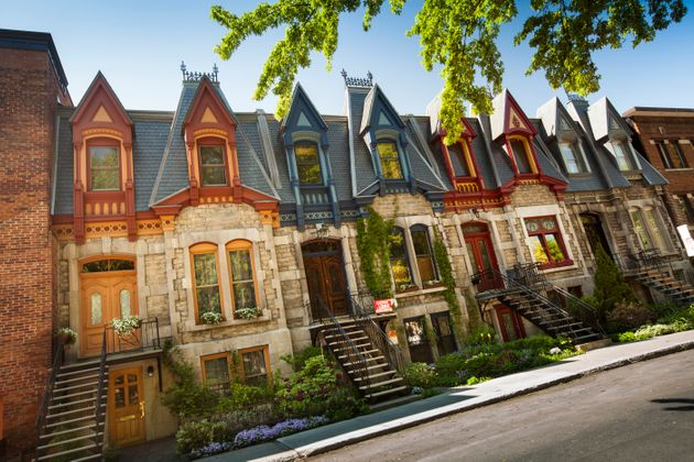 A row of houses in Montreal's St. Louis Square is seen in this undated file photo. Montreal home sales...