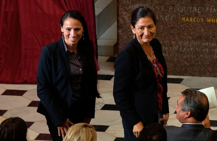 Reps. Sharice Davids (D-Kan.) and Deb Haaland (D-N.M.) just won their second terms to Congress. They are the first two Native