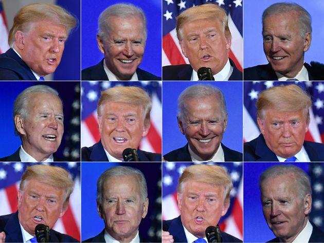 Combo de imágenes de Joe Biden, candidato demócrata, y de Donald Trump, candidato