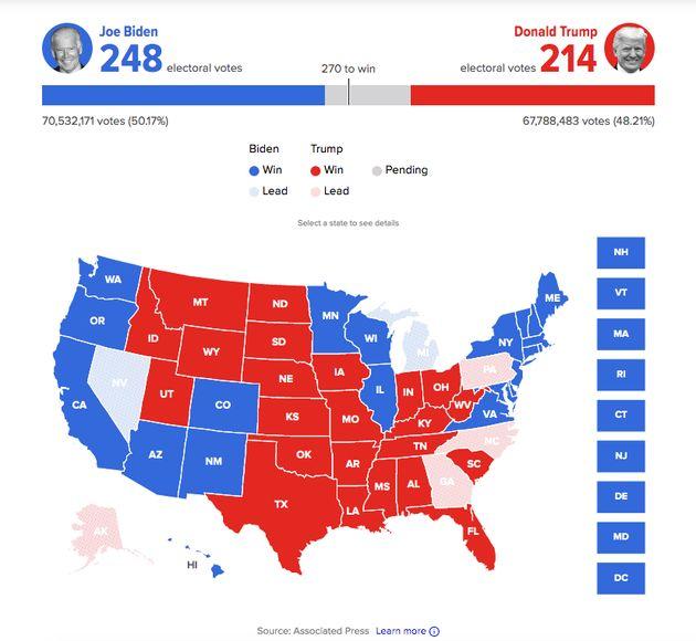 Mapa electoral EEUU
