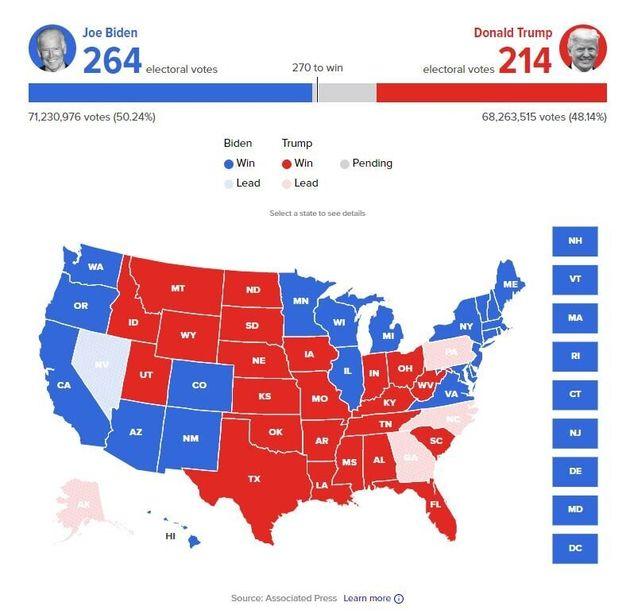 DIRECT - Suivez les élections américaines: qui de Trump ou Biden sera élu