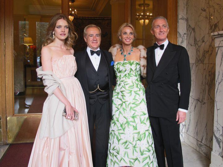 Natalia Vodianova,Allen Sanginés-Krause, Corinna Larsen y Paolo Borghese.