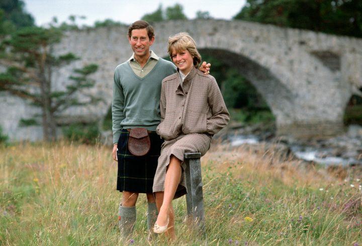 Prince Charles on his honeymoon with Princess Diana.
