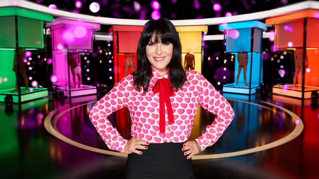 Anna Richardson on the set of Naked Attraction