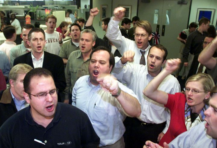 A snapshot of the Brooks Brothers Riot, in whichdozens of paid Republican operatives pretending to be concerned citizen