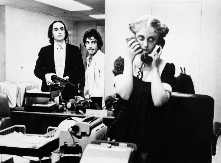"""John Cazale,Al Pacino and Kane in """"Dog Day Afternoon."""""""