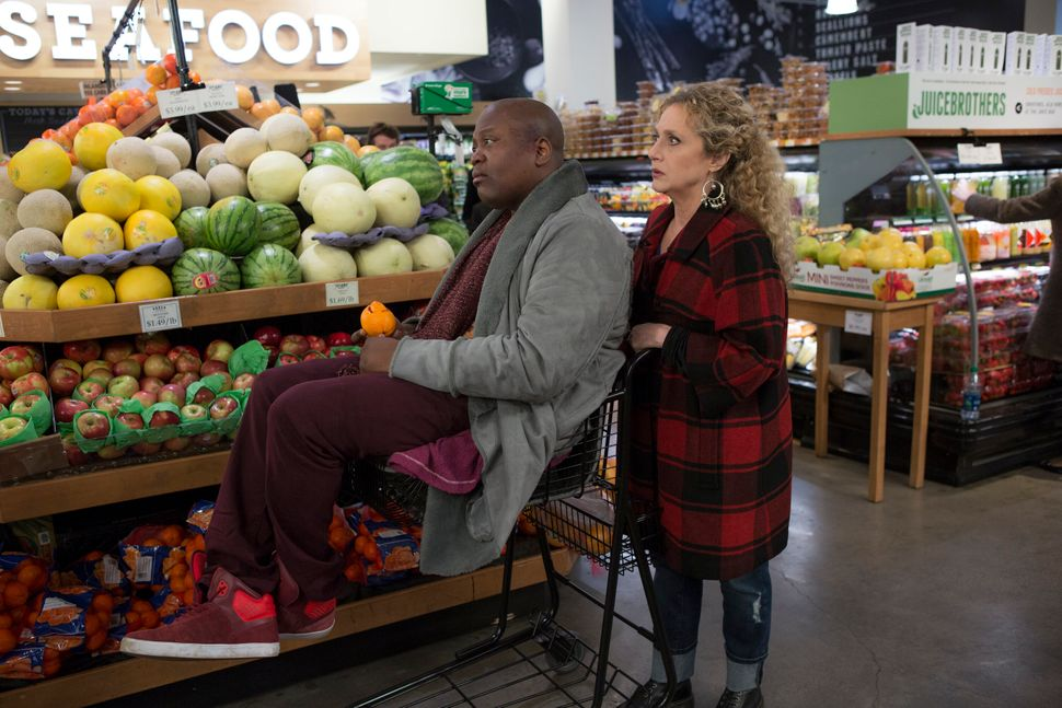 """Tituss Burgess and Kane in an episode of """"Unbreakable Kimmy Schmidt."""""""