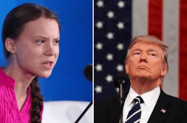 Greta Thunberg y Donald