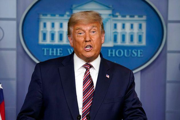Donald Trump, ici lors d'une conférence de presse à la Maison Blanche à Washington,...