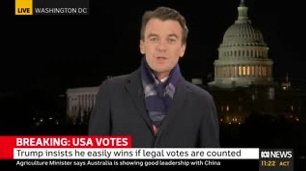 "Australia's ABC reporter Michael Rowland said Trump made ""dubious points"" throughout..."