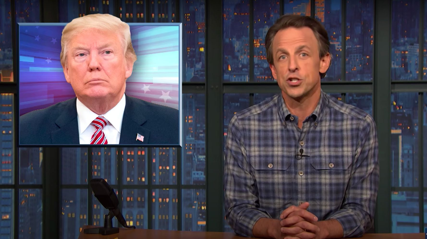 Seth Meyers Mocks 'Political Mastermind' Trump's Election 'Hack'