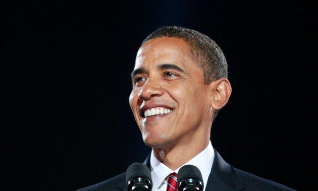シカゴで勝利宣言をする当時のバラク・オバマ氏