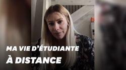 Malgré le confinement, cette étudiante réussit à garder motivation et lien avec sa