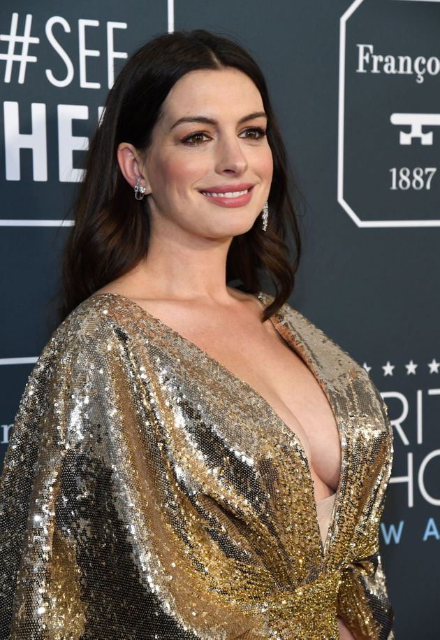 Anne Hathaway at the Critics' Choice Awards earlier this