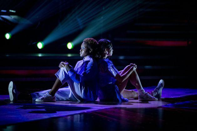 Nicola Adams and Katya Jones on the Strictly dance floor last