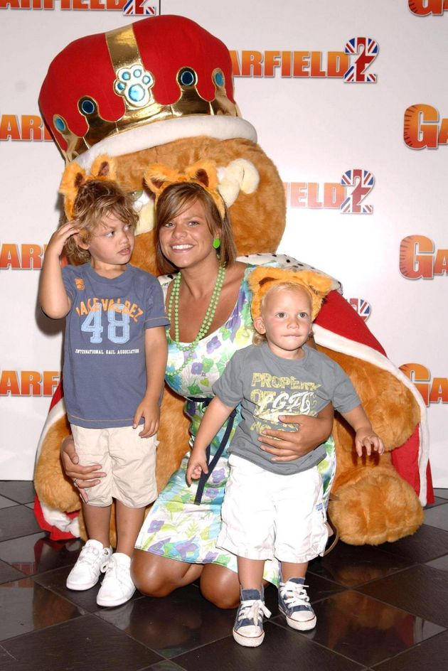 Bobby and his younger brother Freddie with mum Jade prior to her death