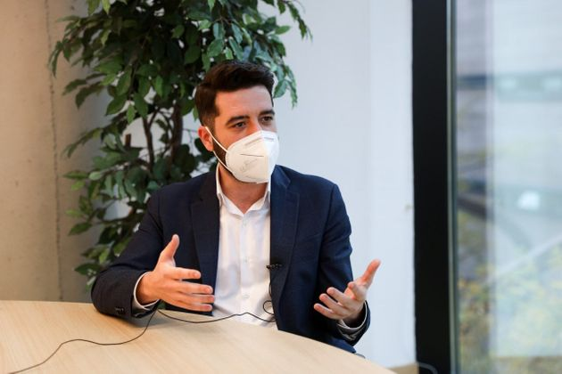 El portavoz de Cs en la Asamblea de Madrid, César Zafra, este jueves 5 de