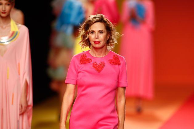 Ágatha Ruiz de la Prada durante un desfile de la Mercedes Fashion Week Madrid en septiembre de