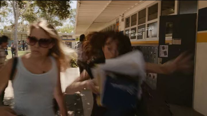 """The opening scene of """"Easy A"""" on Netflix."""