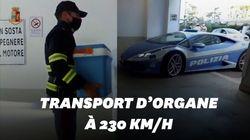 La police italienne livre un rein à 230 km/h en