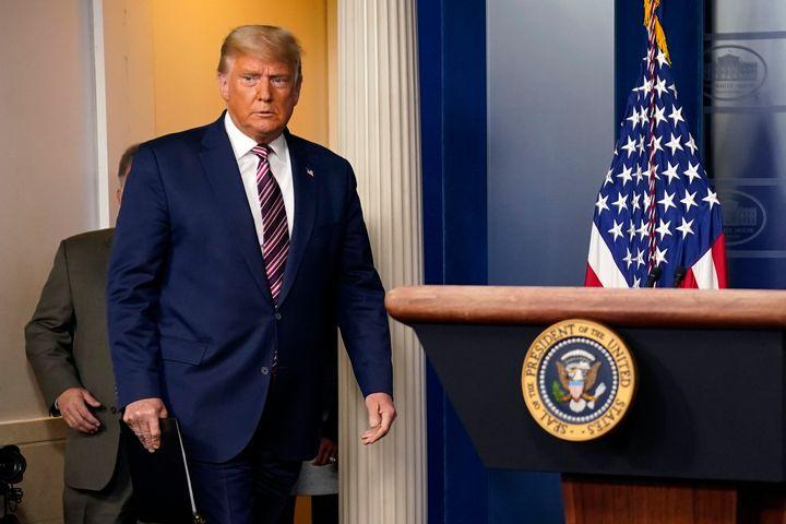 President Donald Trump arrives to speak at the White House, Nov. 5, in Washington.